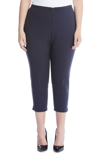 Plus Size Karen Kane Stretch Capri Pants, Blue