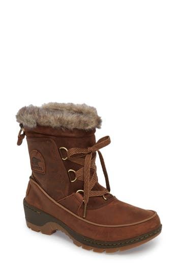 Sorel Tivoli Ii Insulated Winter Boot With Faux Fur Trim, Brown