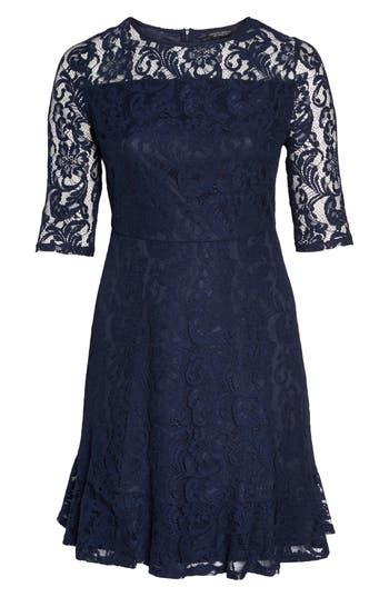 Plus Size Dorothy Perkins Fit & Flare Lace Dress, US / 18 UK - Blue