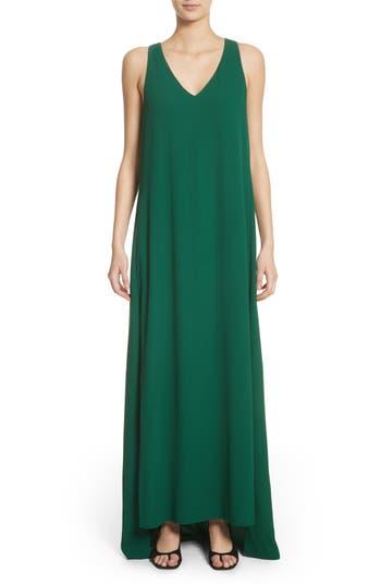 Rosetta Getty Crepe Cross Back Gown, Green