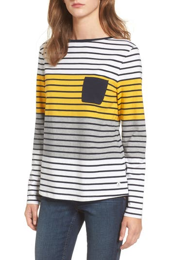 Women's Barbour Selsey Pocket Tee, Size 4 US / 8 UK - White