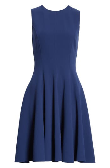 Michael Kors Stretch Wool Bell Dress, Blue