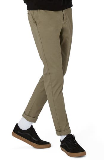 Topman Stretch Skinny Fit Chinos