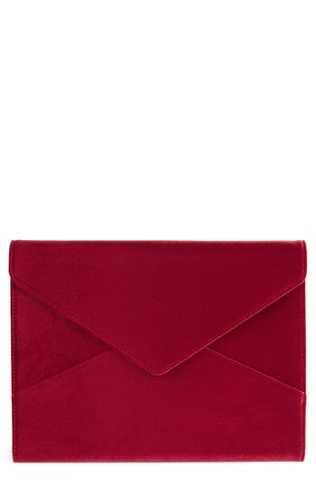 Sonix Red Velvet Laptop Clutch - Red