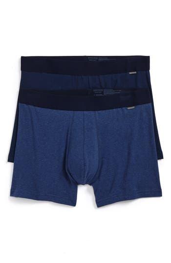 Men's Nordstrom Men's Shop 2-Pack Boxer Briefs, Size Small - Blue
