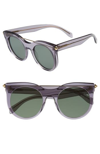 Alexander Mcqueen 52Mm Cat Eye Sunglasses - Grey