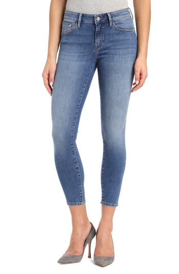 Gold Adriana Stretch Super Skinny Ankle Jeans