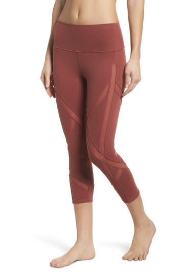 Alo Laced High Waist Capri Leggings, Red