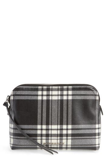 Burberry Laminated Tartan Pouch - Black