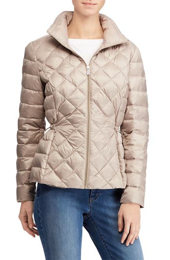 Lauren Ralph Lauren Packable Quilted Down Jacket, Beige