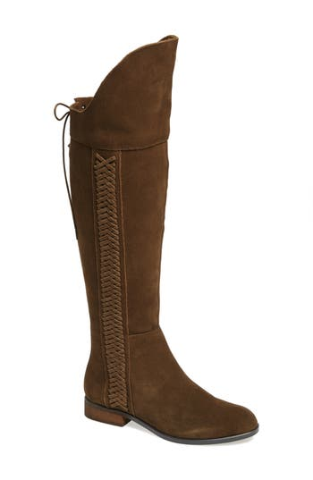 Sbicca Spokane Woven Over The Knee Boot, Brown