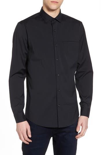Calibrate Slim Fit Stretch Sport Shirt, Black