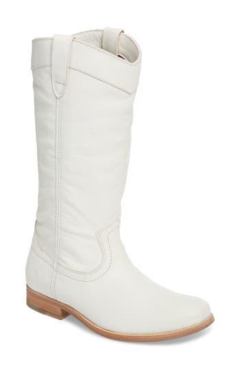 Frye Melissa Pull-On Boot, White