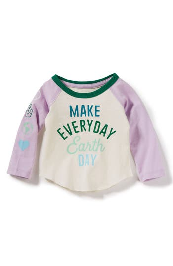 Girls Peek Make Every Day Earth Day Raglan Tee