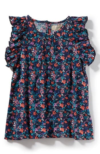 Girls Peek Carmen Floral Top