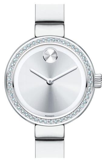 Women's Movado Bold Diamond Bezel Bangle Watch, 25Mm