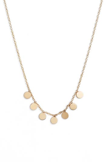 Zoe Chicco Itty Bitty Dangle Disc Necklace