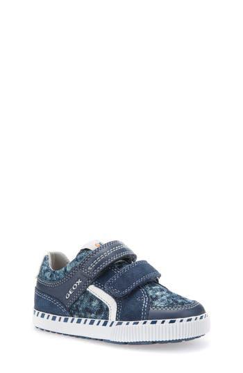 Toddler Boys Geox Kilwi Knit Sneaker Size 9US  26EU  Blue