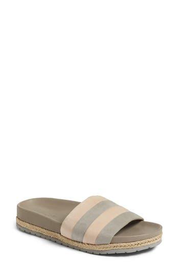 Women's Vince Alisa Striped Slide Sandal, Size 5 M - Grey