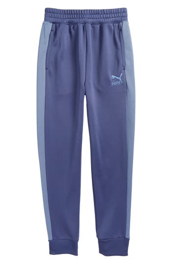 Boy's Puma T7 Sweatpants, Size S (8) - Blue