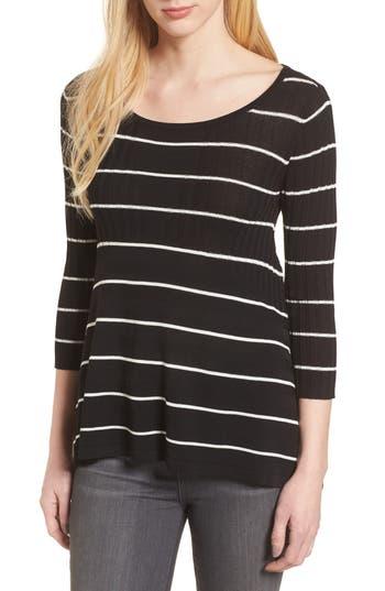 Women's Bailey 44 Sumo Stripe Sweater, Size X-Small - Black