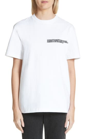 Calvin Klein 205W39Nyc 1968 Logo Tee, White