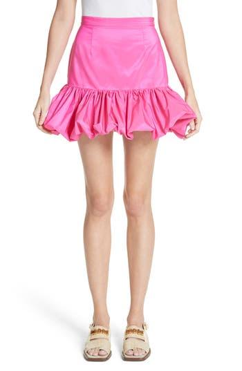 Women's Stella Mccartney Flare Bubble Hem Taffeta Skirt, Size 0 US / 34 IT - Pink