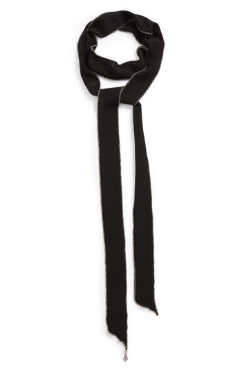 Saint Laurent Chain Border Skinny Silk Scarf