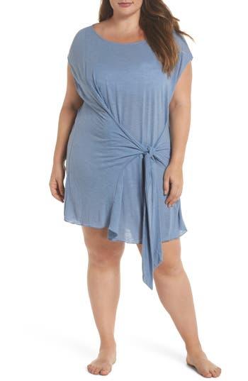 Plus Size Becca Etc. Breezy Basic Cover-Up Dress, Blue