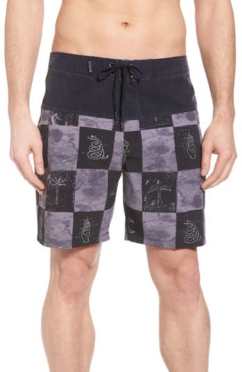 Hurley Phantom Surfcheck Board Shorts, Black