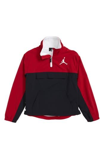 Boys Jordan Aj 90S Popover Quarter Zip Pullover Size 6  Black