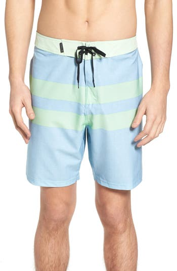 Hurley Phantom Blackball Beater Swim Trunks, Blue