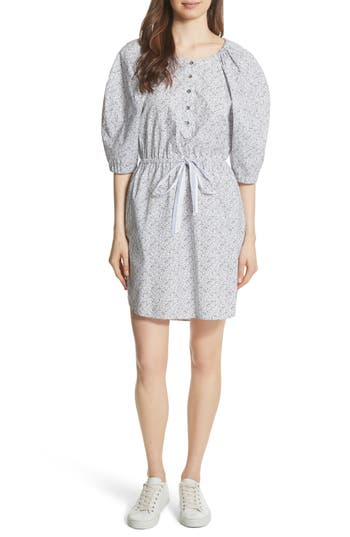 La Vie Rebecca Taylor Meadow Floral Shirtdress, White
