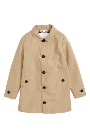 Boys Burberry Bradley Trench Coat Size 4Y  Beige