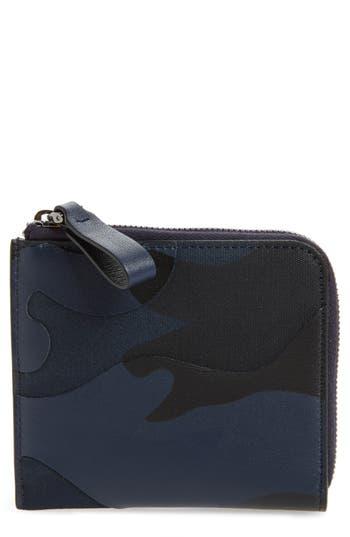 Men's Valentino Garavani Camo Zip Wallet - Blue