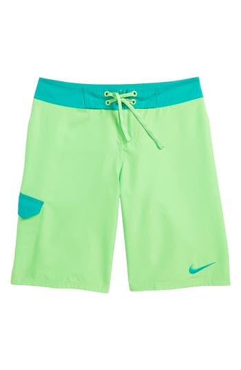 Boy's Nike Drift Board Shorts, Size S (8) - Green