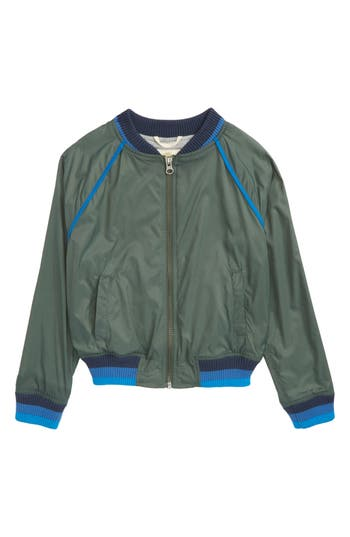 Boys Tucker  Tate Stripe Bomber Jacket Size S  78  Green