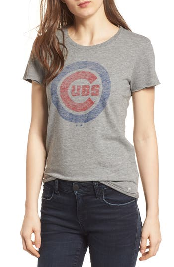 47 female womens 47 chicago cubs fader letter tee size large grey