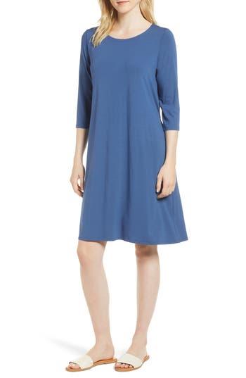 Eileen Fisher Tie Back Dress, Blue