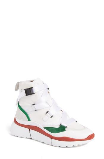Chloe Sonnie High Top Sneaker, White