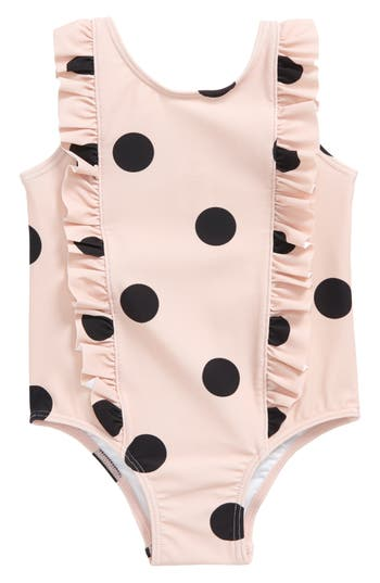 Infant Girl's Tucker + Tate Ruffle One-Piece Swimsuit, Size 3M - Pink