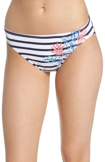 Tommy Bahama Palms Of Paradise Embroidered Bikini Bottoms, Blue