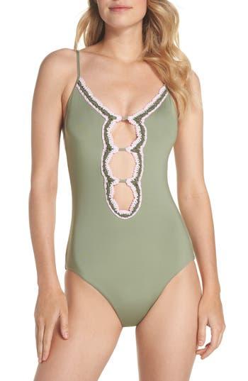 Becca Medina One-Piece Swimsuit, Green