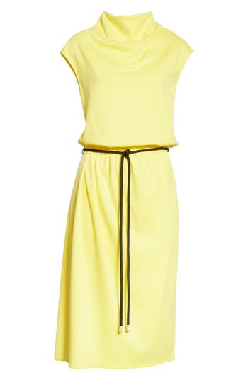 Marc Jacobs Cowl Neck Belted Dress, Yellow