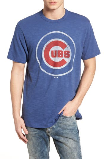 47 male mens 47 grit scrum chicago cubs tshirt size small blue