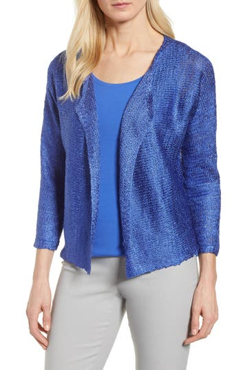 Womens NicZoe Rhythm Of The Road Open Cardigan Size Small  Blue