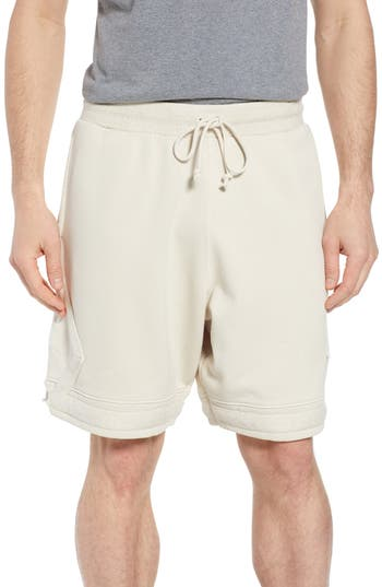 9a7cbf3ff39 Men's Nike Jordan Washed Cotton Diamond Logo Shorts, Size Small - Ivory