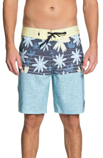 Quiksilver Highline Minikani Board Shorts, Blue/green