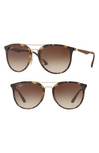 Ray-Ban 55Mm Gradient Lens Sunglasses - Light Blue Gradient