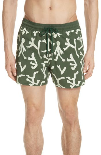 Vilebrequin Glow In The Dark Fire Dance Swim Trunks, Green
